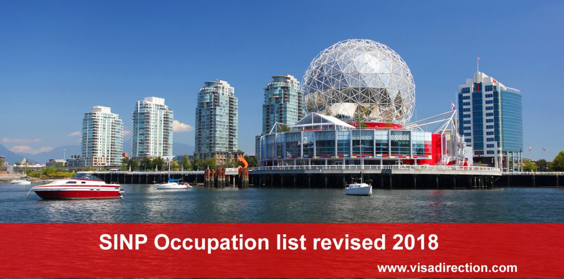 SINP Occupation list revised 2018